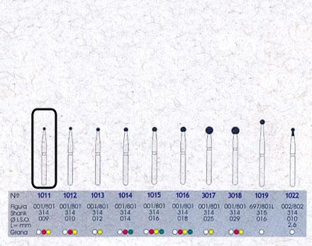 Infográfico do produto Ponta Diamantada Esférica 1011 - FG