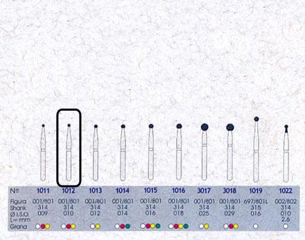 Infográfico do produto Ponta Diamantada Esférica 1012 - FG