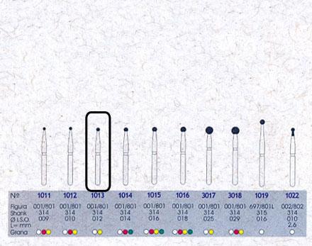 Infográfico do produto Ponta Diamantada Esférica 1013 - FG