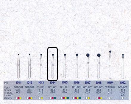 Infográfico do produto Ponta Diamantada Esférica 1014 - FG