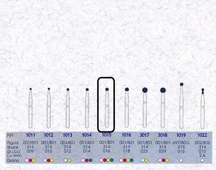 Infográfico do produto Ponta Diamantada Esférica 1015 - FG