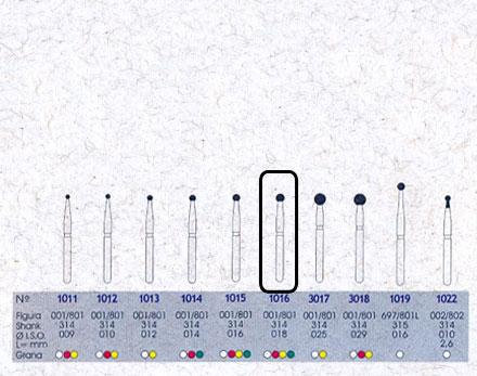 Infográfico do produto Ponta Diamantada Esférica 1016 - FG