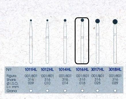 Infográfico do produto Ponta Diamantada Esférica 1016HL - FG