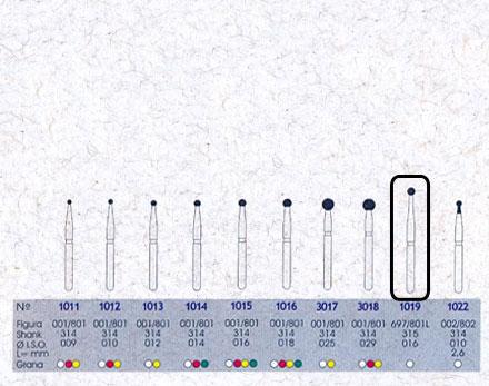 Infográfico do produto Ponta Diamantada Esférica 1019 - FG