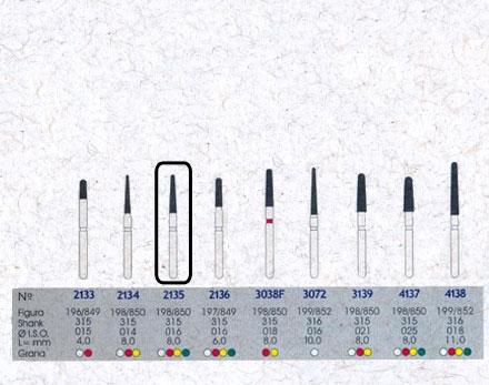 Infográfico do produto Ponta Diamantada Cônica Topo Arredondado 2135FF - FG