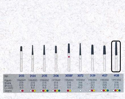 Infográfico do produto Ponta Diamantada Cônica Topo Arredondado 4138 - FG