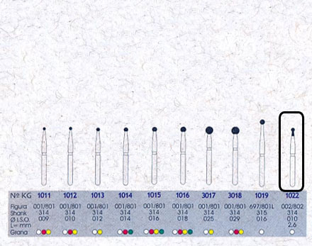 Infográfico do produto Ponta Diamantada Esférica c/Colar 1022 - FG