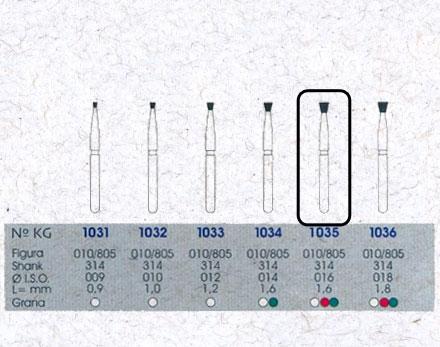 Infográfico do produto Ponta Diamantada Cônica Invertida 1035 - FG