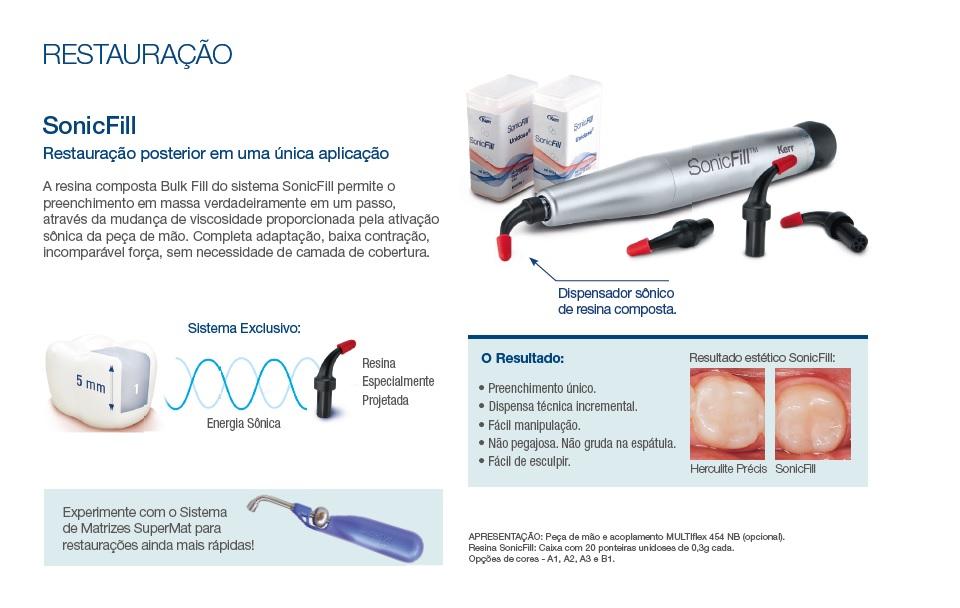 Infográfico do produto Resina Sonicfill 1 - A2