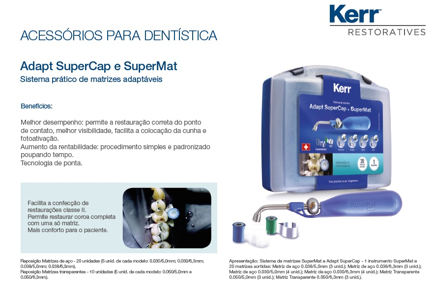 Infográfico do produto Kit Matriz Adapt Supercap e Supermat