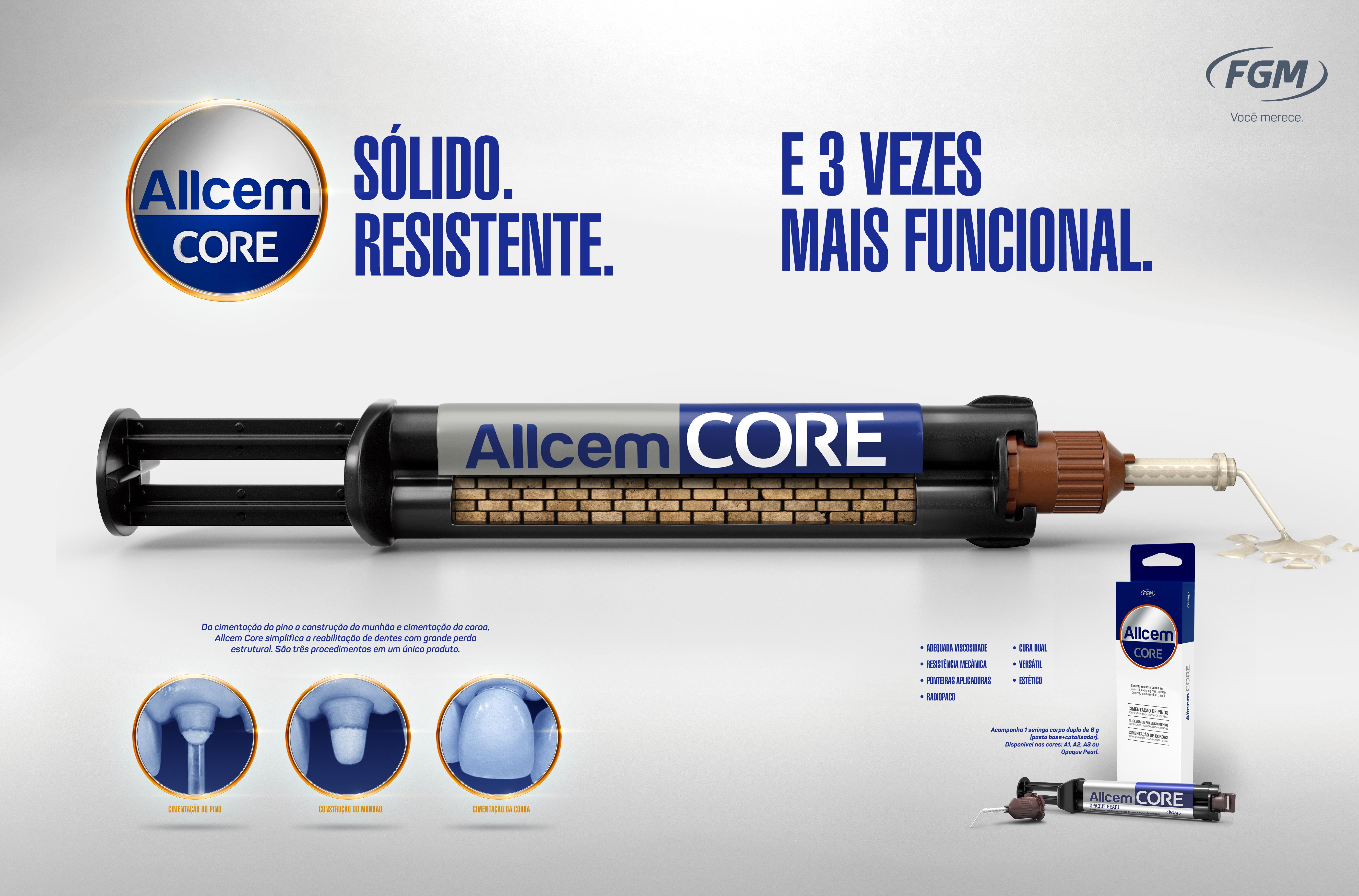 Infográfico do produto Cimento Allcem Core A2