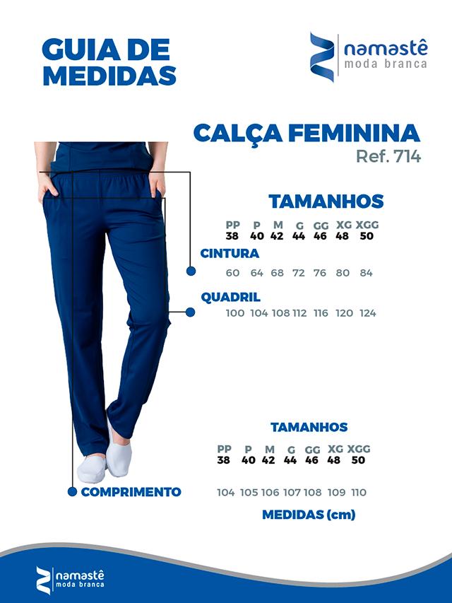 Infográfico do produto Calça Scrub Unissex Dry Fit Pink - Tam. 42