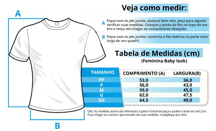 Infográfico do produto Camiseta Feminina - Eu Amo Odonto Branca - M