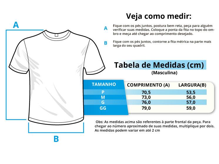 Infográfico do produto Camiseta Masculina - Dentista Branca - GG