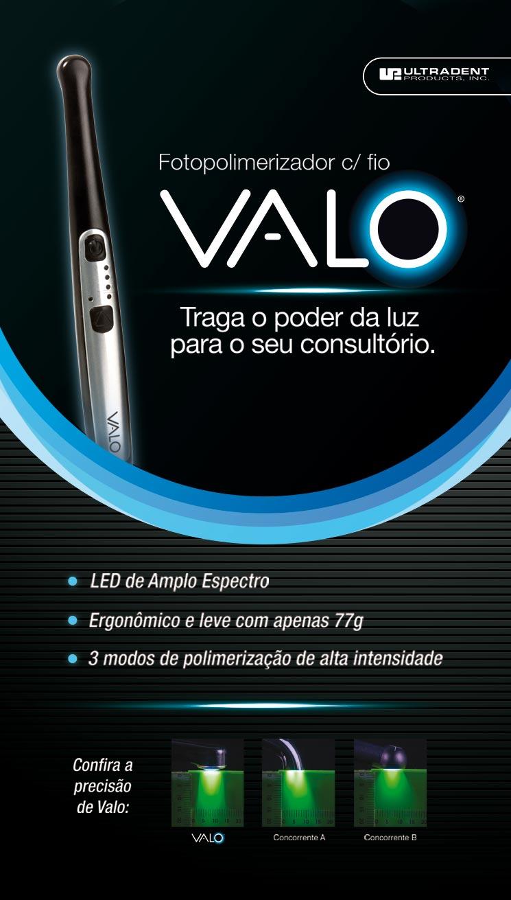 Infográfico do produto Fotopolimerizador Valo s/ Fio - Preto - Bivolt