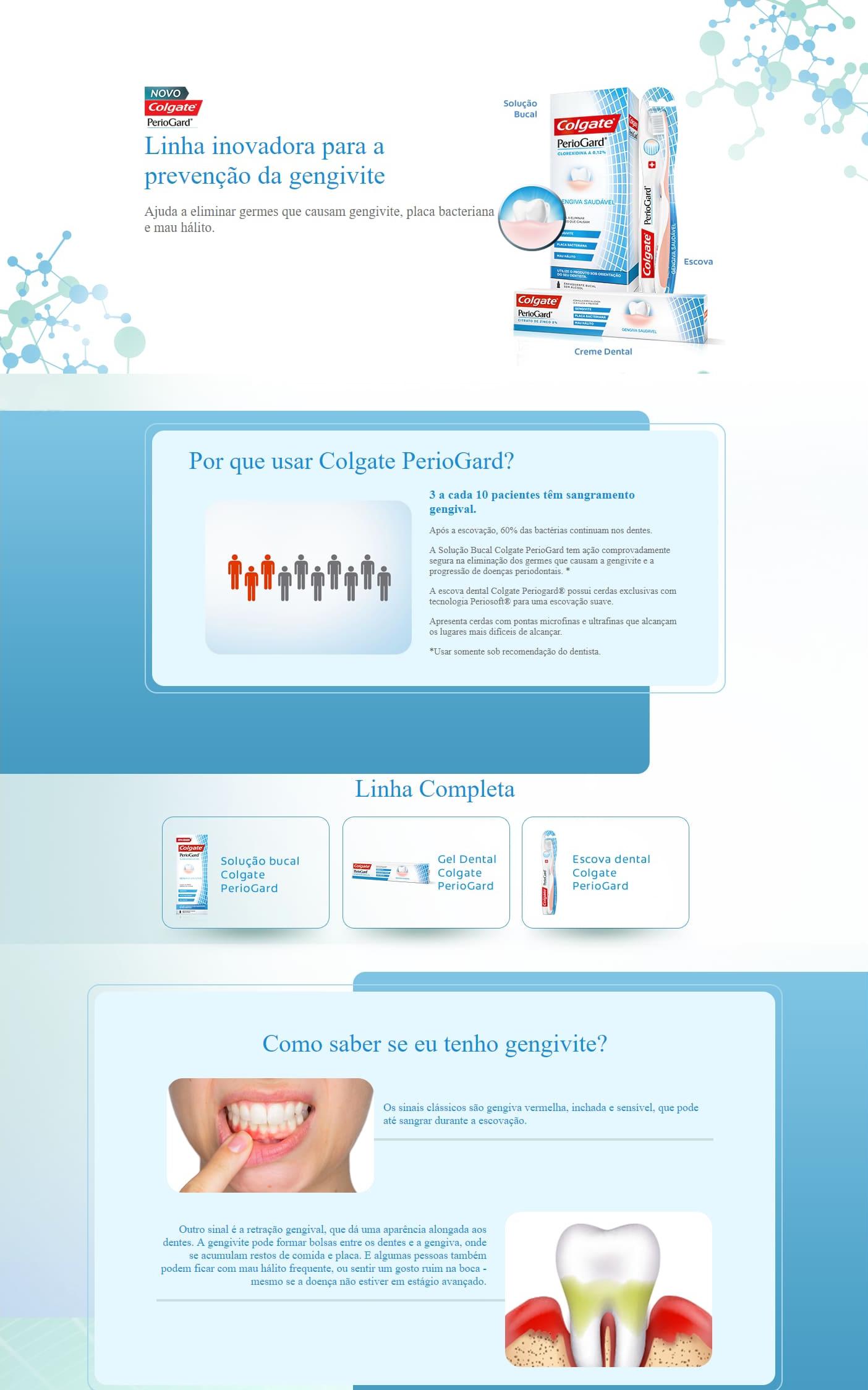 Infográfico do produto Escova Dental Periogard