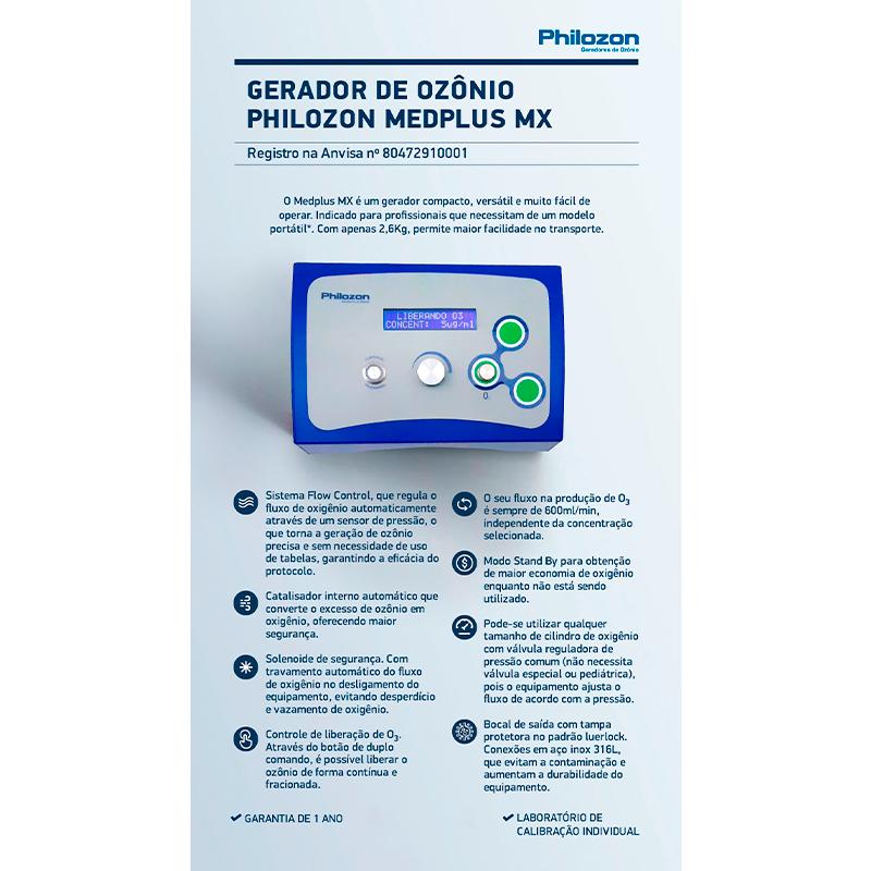 Infográfico do produto Gerador de Ozônio Medplus MX
