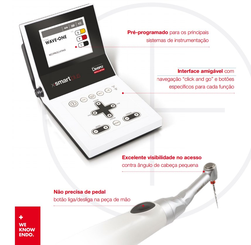 Infográfico do produto Motor p/ Endodontia X-Smart Plus - Bivolt