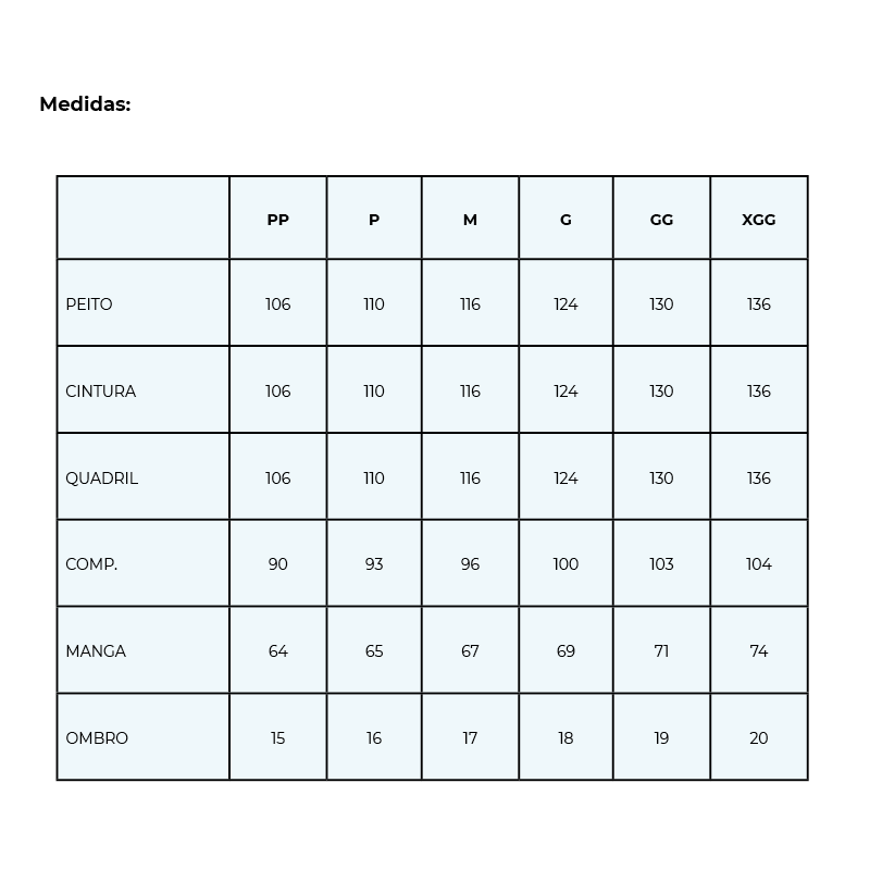 Infográfico do produto Jaleco Masculino Basic Branco - XGG