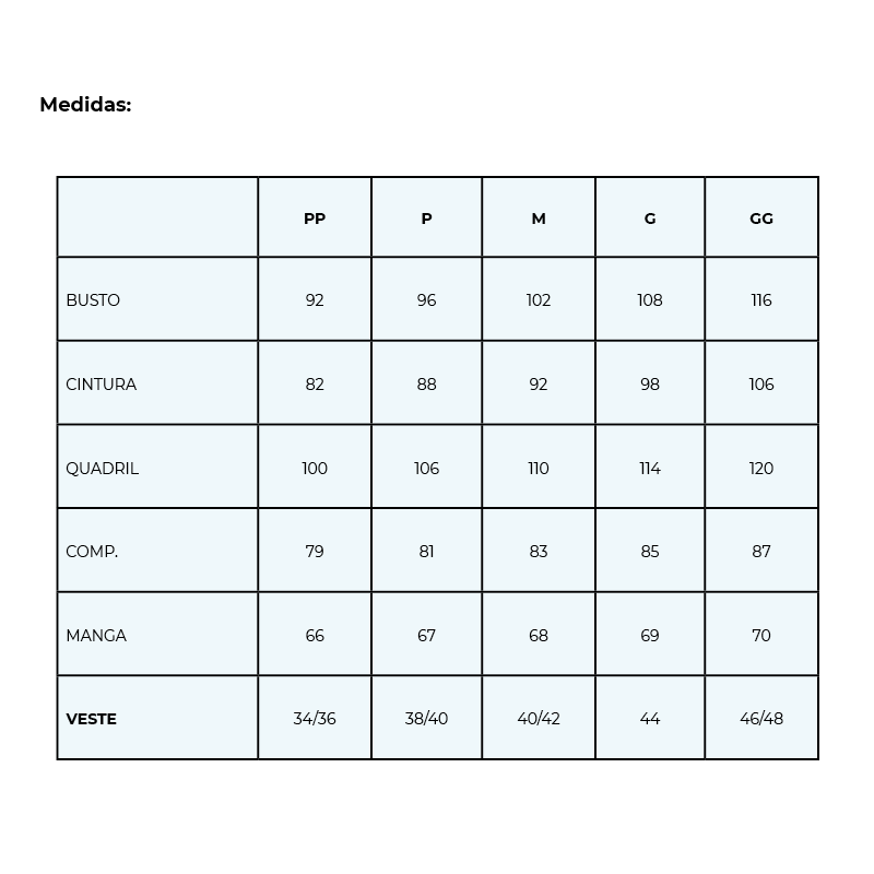 Infográfico do produto Jaleco Dolce - Branco - GG