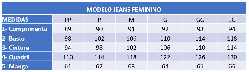 Infográfico do produto Jaleco Feminino Jeans Pink - PP