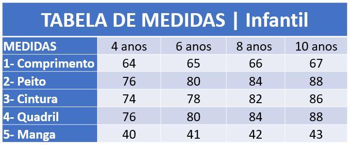 Infográfico do produto Jaleco Infantil Bichinhos - 6