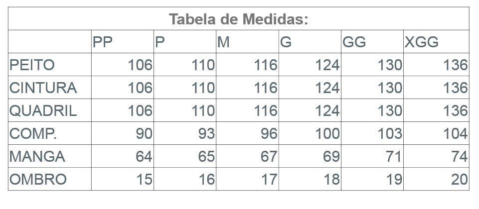 Infográfico do produto Jaleco Masculino Nobel c/ Zíper - Cinza Chumbo - PP