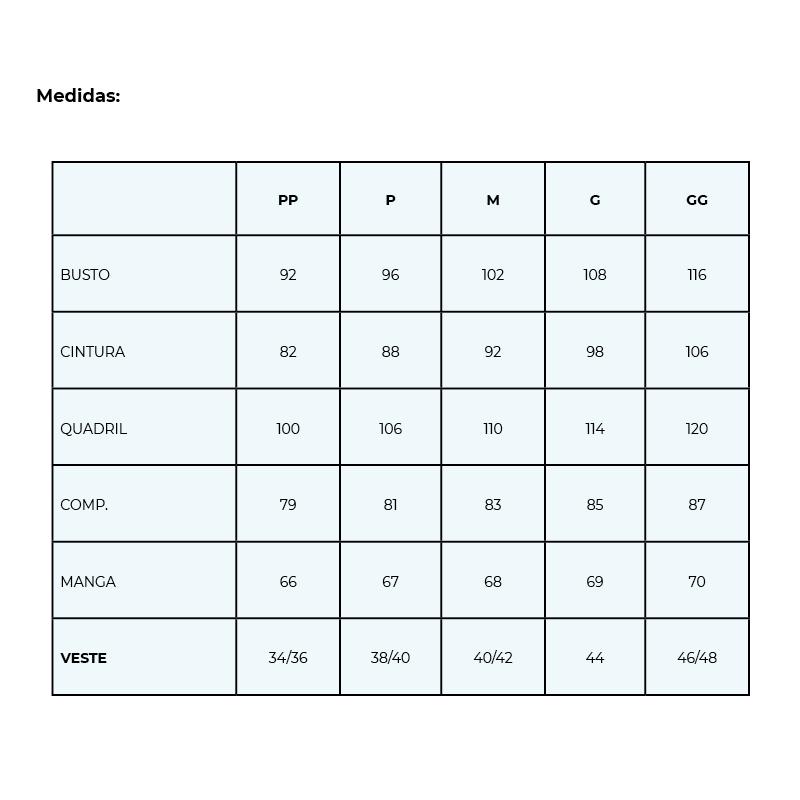Infográfico do produto Jaleco Wish - PP