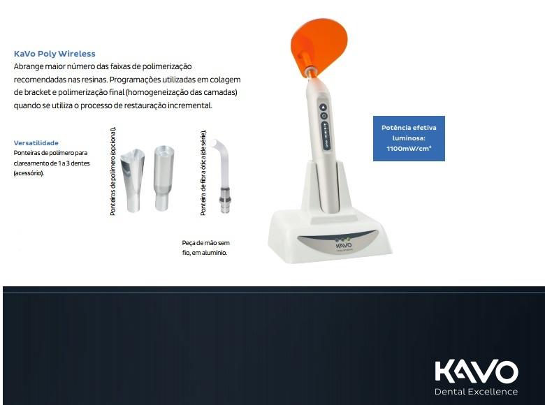 Infográfico do produto Fotopolimerizador Poly Wireless 1100w - Bivolt