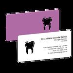 Cartão de Visita Dente Color - Roxo