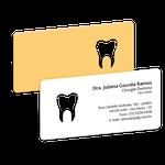 Cartão de Visita Dente Color - Amarelo