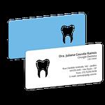 Cartão de Visita Dente Color - Azul