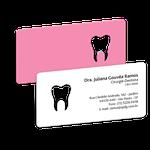 Cartão de Visita Dente Color - Rosa