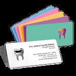Cartão de Visita Dente Color - Cores Sortidas