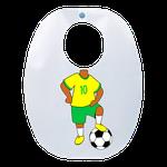 Babador Impermeável Infantil - Jogador Seleção