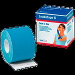 Bandagem Funcional de Tecido Elástico com Adesivo Leukotape K - Azul Claro