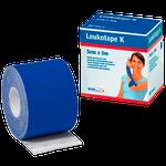 Bandagem Funcional de Tecido Elástico com Adesivo Leukotape K - Azul