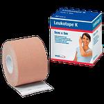 Bandagem Funcional de Tecido Elástico com Adesivo Leukotape K - Nude