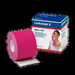 Bandagem Funcional de Tecido Elástico com Adesivo Leukotape K - Pink