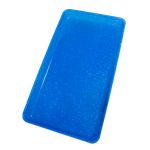 Bandeja p/ Esterilização c/ Glitter Azul - Medio