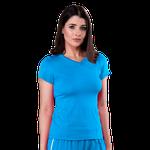 Blusa Scrub Feminina Dry Fit - Azul Turquesa