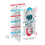 Calendário de Bolso - Naipes