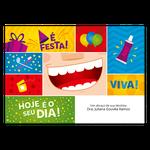 Cartão de Aniversário - Festa Pop
