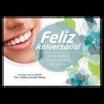 Cartão de Aniversário - Sorriso Floral