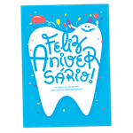 Cartão de Aniversário - Dentão Confete