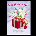 Cartão de Aniversário - Presente Surpresa