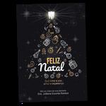 Cartão de Natal - Árvore Iluminada