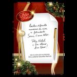 Cartão de Natal - Receituário Vermelho