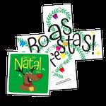 Cartão de Natal Desdobra - Dentinhos Coloridos