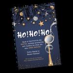 Cartão de Natal - Instrumento Dourado